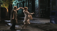 Tony Warren and Josie Scott (Sophia Di Martino) dancing in the entry........