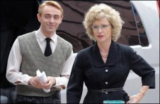 With Jane Horrocks who played Margaret Morris